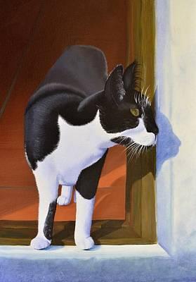 Hind Painting - Cautious Curiosity by Leana De Villiers