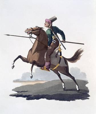 Orientalists Drawing - Cavalry Man, 1818 by English School