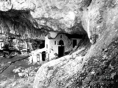 Medieval Temple Photograph - cave church on Mt Olympus Greece by Nina Ficur Feenan