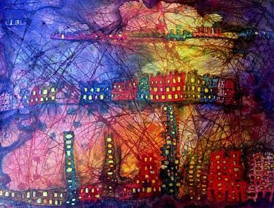Representative Abstract Mixed Media - Cave City by Isaac Alcantar