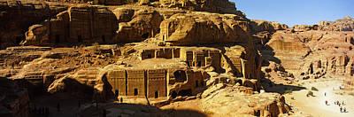Ancient Civilization Photograph - Cave Dwellings, Petra, Jordan by Panoramic Images