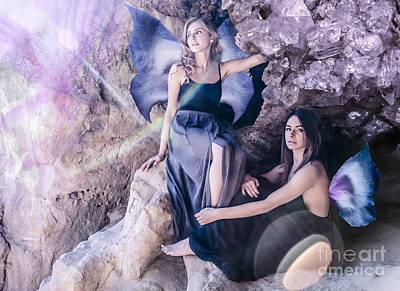 Flower Digital Art - Cave Fairies by Tiffany Luptak