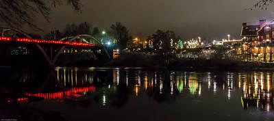 Caveman Bridge And Taprock At Christmas - Panorama Print by Mick Anderson