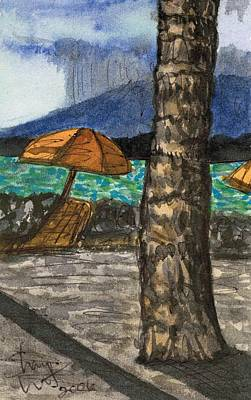 Watercolor Painting - Cayman Island by Shara  Wright