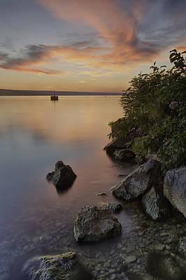 Keuka Photograph - Cayuga Sunset I by Michele Steffey