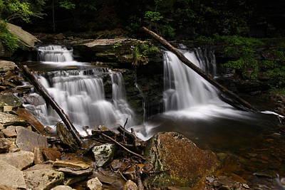 Cayuga Waterfalls Print by David Simons