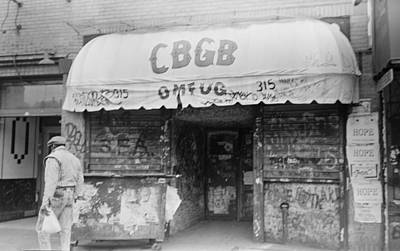 Cbgb Omfug On The Bowery New York City 1989 Print by Anthony Troncale