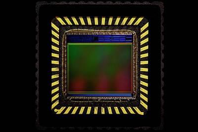 Ccd Camera Sensor Print by Antonio Romero