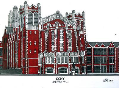 Ccny Shepard Hall Print by Frederic Kohli