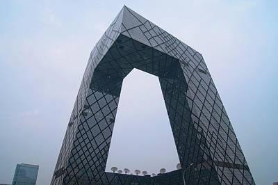 Cctv Building In Beijing Print by Mark Williamson