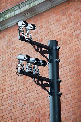 Cctv Cameras Print by Ashley Cooper
