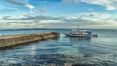 Pier Digital Art - Cebu Tour Boat by Adrian Evans