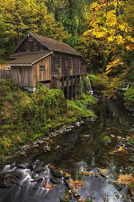 Cedar Creek Grist Mill 2 Print by Mark Kiver