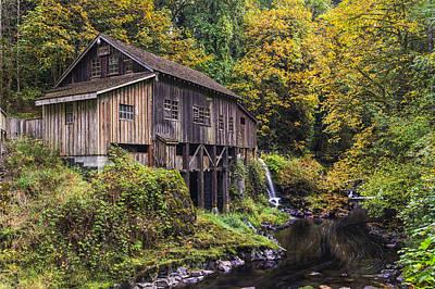 Cedar Creek Grist Mill Print by Mark Kiver