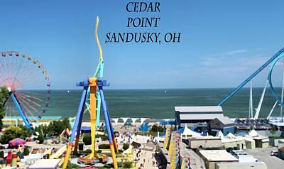 Rollercoaster Photograph - Cedar Point In Sandusky Ohio by Dan Sproul