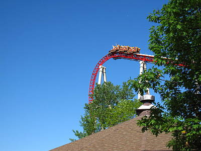 Dragon Photograph - Cedar Point - Iron Dragon - 12122 by DC Photographer