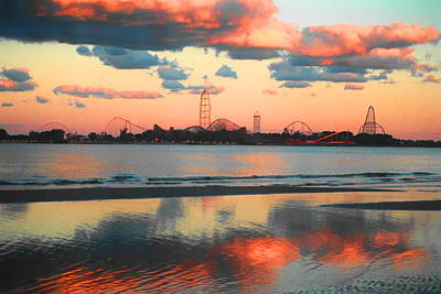 Coaster Photograph - Cedar Point by Sarah Kasper