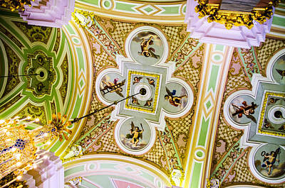Ceiling - Cathedral Of Saints Peter And Paul Print by Jon Berghoff
