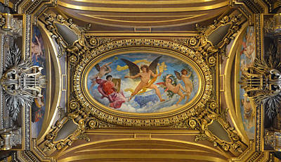 Ceiling Painting By Paul Baudry In The Grand Foyer Of The Paris Opera House Print by RicardMN Photography