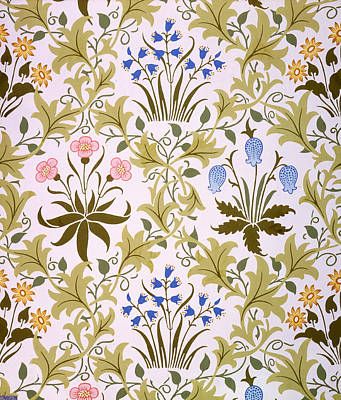 Morris Painting - Celandine Wallpaper Design by John Henry Dearle