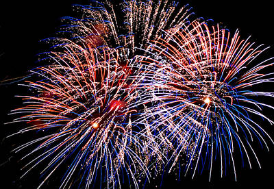 Fireworks Photograph - Celebrate by Lester Phipps