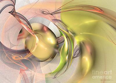 Green Digital Art - Celebration Of Fertility by Sipo Liimatainen