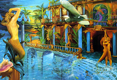 Atlantis Painting - Celebration Of Life by Michael Alexander