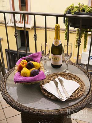 Celebration On An Italian Balcony Print by Brenda Kean