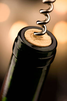 Wine-bottle Photograph - Celebration Time by Johan Swanepoel