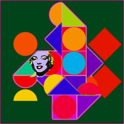 Marilyn Painting - Celebrity Squares by Charles Stuart