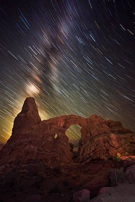 Night Workshop Photograph - Celestial Cannon by Mike Berenson
