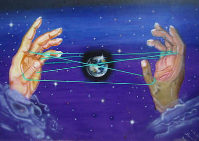 Painting - Celestial Cats Cradle by Thomas J Herring
