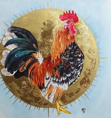 Celestial Chicken Brutus Print by Kirsten Beitler