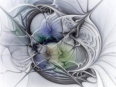 Fractal Geometry Digital Art - Celestial Sphere Abstract Art by Karin Kuhlmann