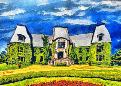 Fantasy Painting - Celine Dion House by George Rossidis