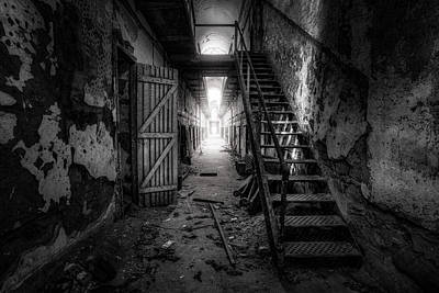 Surreal Photograph - Cell Block - Historic Ruins - Penitentiary - Gary Heller by Gary Heller
