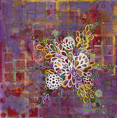 Microscopic Painting - Cell No.16 by Angela Canada-Hopkins
