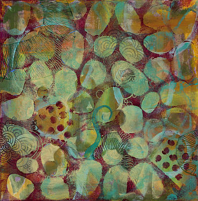 Microscopic Art Painting - Cell No.17 by Angela Canada-Hopkins