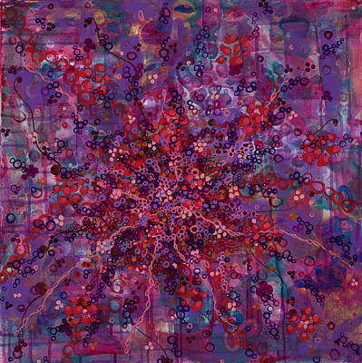 Microscopic Painting - Cell No.19 by Angela Canada-Hopkins