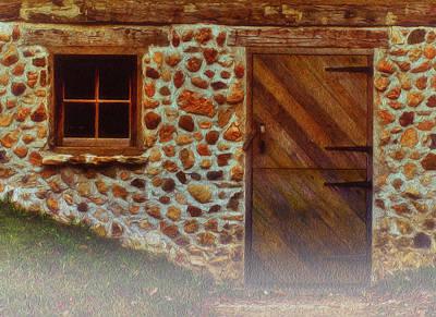 Cellar Door In The Mist Print by Jack Zulli