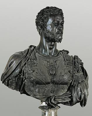 Statue Portrait Photograph - Cellini, Benvenuto 1500-1571. Bust by Everett