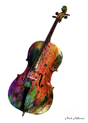 Caricature Digital Art - Cello by Mark Ashkenazi