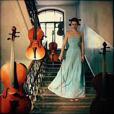 Levitation Photograph - Cellos by Anka Zhuravleva