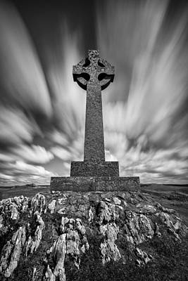Celtic Cross Print by Dave Bowman