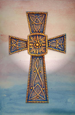 Celtic Cross Sunrise Print by Sandi OReilly