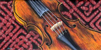 Celtic Fiddle Study No. 6 Original by Jan Clizer