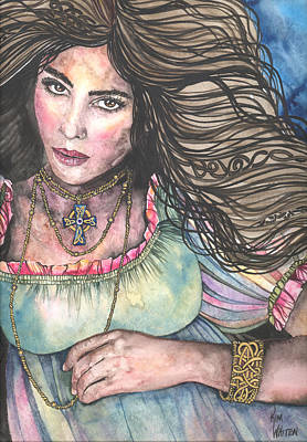 Celtic Art Painting - Celtic Queen by Kim Whitton