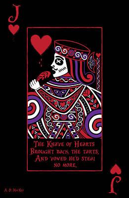 Celtic Digital Art - Celtic Queen Of Hearts Part Iv The Broken Knave by Celtic Artist Angela Dawn MacKay