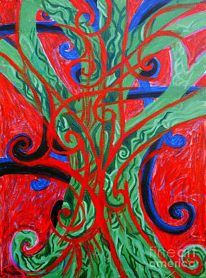 Healing Art Painting - Celtic Tree Knot by Genevieve Esson