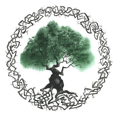 Celtic Tree Of Life Painting - Celtic Tree Of Life 2 by Sean Seal
